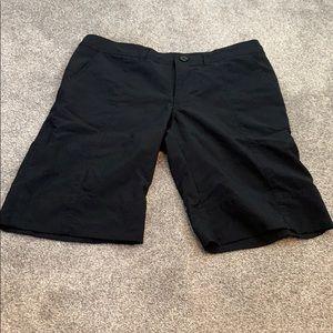 Patagonia women's longer black shorts size 6